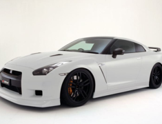 GT-R - R35 - Front Lip Spoiler - Construction: FRP - Colour: Unpainted - ZELE-GTR35-FLS