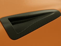 GT-R - R35 - Carbon NACA Bonnet Duct Set - Construction: Carbon - Colour: - - ZELE-GTR35-CNBD