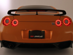 GT-R - R35 - Dry Carbon Rear Wing - Construction: Dry Carbon - Colour: - - ZELE-GTR35-DCRW