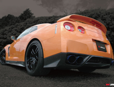 GT-R - R35 - Carbon Rear Under Spoiler - Construction: Carbon - Colour: - - ZELE-GTR35-CRUS