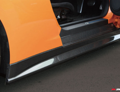 GT-R - R35 - Carbon Side Skirt Set - Construction: Carbon - Colour: - - ZELE-GTR35-CSS