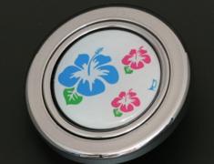 - Colour: Silver - Design: Hibiscus - HS50