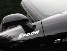 Spoon - White Team Sticker - 300mm