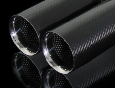 86 - ZN6 - Pieces: 4 - Pipe Size: 60mm - Tail Size: 92mm (x4) - Tail Type: Carbon - AIMTLM-86C