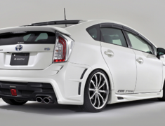 Prius - ZVW30 - 5 Point Kit: Front Bumper Spoiler (FRP) (LED daytime lamp included) + Side Skirts + Rear Bumper Spoiler + Bonnet Spoiler + Rear Gate Spoiler - Construction: FRP/Urethane - Colour: Unpainted - ZVW30-5PF