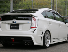 Prius - ZVW30 - 5 Point Kit: Front Bumper Spoiler (FRP/Carbon) (LED daytime lamp included) + Side Skirts + Rear Bumper Spoiler + Bonnet Spoiler + Rear Gate Spoiler - Construction: FRP/Carbon/Urethane - Colour: Unpainted - ZVW30-5PFC