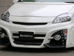 Prius - ZVW30 - Front Bumper Spoiler (LED daytime lamp set) - Construction: FRP/Carbon - Colour: Unpainted - ZVW30-FBSFC