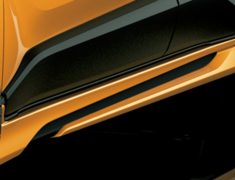 C-HR 4WD - NGX50 - Side Skirts - Construction: Polypropylene - Colour: Black Mica (C0) - Colour: Metal Stream Metallic