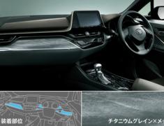 C-HR - ZYX10 - Interior Panel Set - Titanium Grain × plating style - Construction: PMMA - Colour: Titanium Grain/C