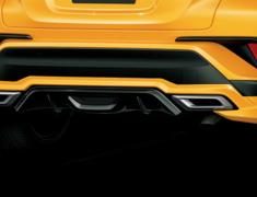 C-HR - ZYX10 - Rear Skirt - Construction: ABS - Colour: Black Mica (C0) - Colour: Metal Stream Metallic (B0) - Colo