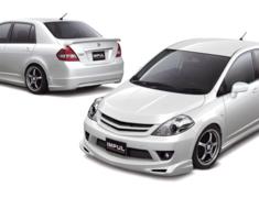 Tiida Latio - SC11 - Full Kit (Front Bumper Type) - Construction: FRP - Colour: Unpainted - IMPSC11S2-FKFBT