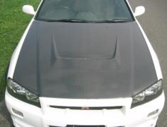Skyline - R34 25GTT - ER34 - Carbon Bonnet With Duct - EBR34-CBWD