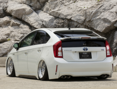 Prius - ZVW30 - 3 Piece Standard Mode Set: Front + Side + Rear - Construction: FRP - Colour: Unpainted - BDZVW30-3P