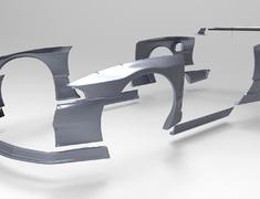 Skyline GT-R - BNR32 - Front Fender - Construction: FRP - Colour: Unpainted - TRARBR32-FF