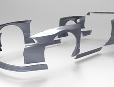 Skyline GT-R - BNR32 - Front Lip Spoiler - Construction: FRP - Colour: Unpainted - TRARBR32-FLS