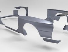 Skyline GT-R - BNR32 - Side Skirts - Construction: FRP - Colour: Unpainted - TRARBR32-SS