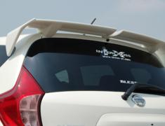 Note - E12 - Rear Wing - Construction: FRP - Colour: EAK: Beat Nick Gold - Colour: K23: Brilliant Silver - Colour: KAD: Dark Metal Gray - Colour: KH3: Super Black - Colour: LAE: Aurora Move - Colour: NAH: Radiant Tread - Colour: QAB: Brilliant White Pearl - Colour: RB