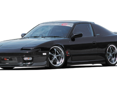 180SX - RS13 - Front Bumper Spoiler (Smooth - No Fog Lights) - Construction: FRP - Colour: Unpainted - GPG4-180SX-FBSS