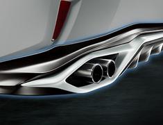 RX200t/300 4WD - AGL25W - Rear Diffuser - Construction: Resin (PPE) - Colour: Black(212):C0 - Colour: Graphite Black Glass Flakes(223):C1 - Colour: White Nova Glass Flakes(083):A1 - MS313-48006-##