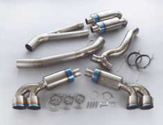 GT-R - R35 - Pieces: 7 - Pipe Size: 80W-102S-80W - Tail Size: 102mm Slash Cut - Weight: 16.1kg - 441007
