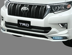 Land Cruiser - GDJ150W - Front Spoiler (with LED) - Construction: Resin (PPE) - Colour: Black (202) C0 - Colour: White Pearl Crystal Shine (070) A0 - MS341-60001-##