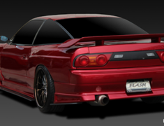 180SX - RS13 - 3 Piece Kit: Front Bumper Spoiler + Side Steps + Rear Bumper Spoiler - Construction: FRP - Colour: Unpainted - GCFLASH-SIL80-3P