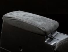Skyline GT-R - BNR32 - Center Armrest Kit - Material: Alcantara - Stitch: Grey - Stitch: Red - BNR32-CA-AL