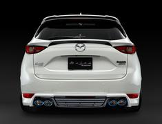 CX-5 - KF2P - Rear Under Spoiler - Quad Tip Exhaust - Two-Tone - Construction: FRP - Colour: Jet Black Mica (41W) - Colour: Machine Gray Premium Metallic (46G) - Colour: Matte Black - Colour: Snowflake White Pearl Mica (25D) - Colour: Sonic Silver Metallic (45P) - Colo