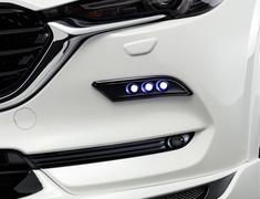 CX-5 - KF2P - LED Triple Spot Kit - Blue Lights - Construction: Urethane - Colour: Jet Black Mica (41W) - Colour: Machine Gray Premium Metallic (46G) - Colour: Matte Black - Colour: Snowflake White Pearl Mica (25D) - Colour: Sonic Silver Metallic (45P) - Colour: Soul R