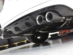 IS 200t - ASE30 - Rear Under Spoiler Type II - Construction: FRP/Carbon - Colour: Unpainted - AIMVIPEXE-IS-RUSTIIC