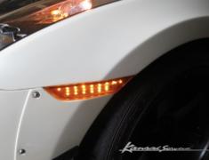 GT-R - R35 - Front Wide Fender +25mm  - Orange integrated indicators - Construction: FRP - KAN113