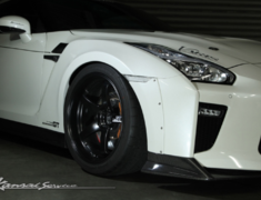 GT-R - R35 - Front Wide Fender +25mm - Clear integrated indicators - Construction: FRP - KAN113C