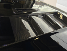 Land Cruiser - GRJ151W - Aero Bonnet Type 2 (with carbon louvers) - Construction: FRP/Carbon - Colour: Unpainted - ELF-LC150E-AB2C
