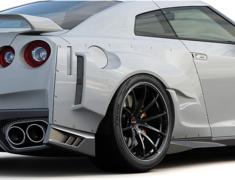 GT-R - R35 - Rear Wide Fenders - Construction: FRP - Colour: Unpainted - 17020253