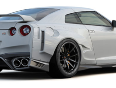 GT-R - R35 - Wide Body 3 Point Set: Front Skirt + Front Wide Fenders + Rear Wide Fenders - Construction: FRP - Colour: Unpainted - 17020254