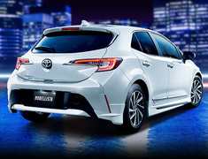 Corolla Sport Hybrid - ZWE211H - Aero Kit: Front Spoiler + Side Skirts + Rear Spats - Construction: ABS - Colour: Attitude Black Mica (C0) - Colour: Scarlet Metallic (D0) - Colour: Silver Metallic (B0) - Colour: White Pearl Crystal Shine (A0) - D2530-58510-##