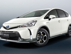 Prius Alpha - ZVW40W - Cross Kit A: Front Spoiler + Fender Garnish + Side Skirts + Rear Skirt + 16 inch aluminum wheel set (X-CLAW) set - Construction: ABS/PPE - Colour: Attitude Black Mica (C1) - Colour: Gray Metallic (B1) - Colour: Silver Metallic (B0) - Colour: White Pearl Crystal Shine (A0) - D2530-47310