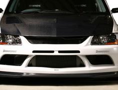 Lancer Evolution IX - CT9A - Front Bumper Ver.2 (with Front Lip) - Construction: FRP w/ Carbon Under Lip - Colour: Unpainted - VAMI-090