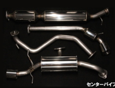 Swift Sport - ZC33S - Rear Muffler & Center Pipe - Pieces: 4 - Pipe Size: 54mm - Tail Size: 2x 100mm - EM-33S01