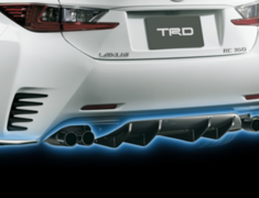 RC300h F-Sport - AVC10 - Rear Diffuser - Colour: Black (212) C0 - Colour: White Nova Glass Flake (083) A1 - MS343-24001-##