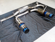 S2000 - AP1 - Intermediate Pipe with Muffler Set - Pipe Size: 60mm - Tail Size: 2x100mm - SUS-TTLR-AP1-IPM