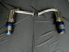 Fairlady Z - 350Z - Z33 - Rear Mufflers Only - Pipe Size: 60mm - Tail Size: 2x100mm - SUS-TTLR-Z33