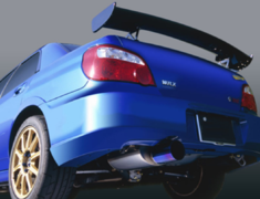 Impreza WRX STI - GDB - with 70mm Front Pipe - Pieces: 2 - Pipe Size: 70mm - Tail Size: 115mm - Weight: 5.9kg - Body Type: A - Body Type: Polished - Tail Type: A - Tail Type: B - Tail Type: Polished - R1Ti-GDBEG