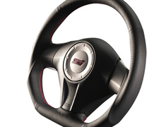 Forester - SH5 - Type: D-Shape - Color: Black - Diameter: 358mm - Stitch: Red - SS358-D(L)