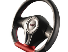 Forester - SH5 - Type: D-Shape - Color: Formula - Black/Red - Diameter: 358mm - Stitch: Red - SS358-D(L)