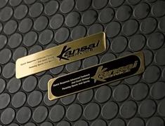 Universal - Size: 10x2cm - Colour: Gold Lettering - EM-3-B