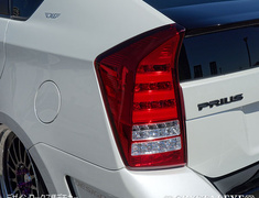 Prius - ZVW30 - Color: Black - Color: Red Clear - Color: Red Smoke - Color: Smoke - S195