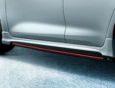 Corolla Sport - NRE210H - Side Skirts - Construction: PPE Resin - Colour: Attitude Black Mica (218) (C0) - Colour: Blackish Swallowtail Glass Flake(221) (C1) - Colour: White Pearl Crystal Shine (070)(A1) - Base Color: Matte Black - MS344-12004-##