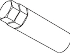 - Replacement Dedicated Adapter - Diameter: 19/21HEX - Quantity: 1 - A60 L90