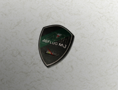 - Colour: Green, Black & Silver (SUS) - Size: W50mm H70mm - Mij Crest Emblem